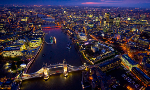 London - one of the most expensive places to live in the world.