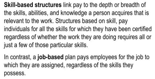 Skill verus Job Based Pay
