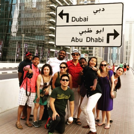 A group photo in Dubai